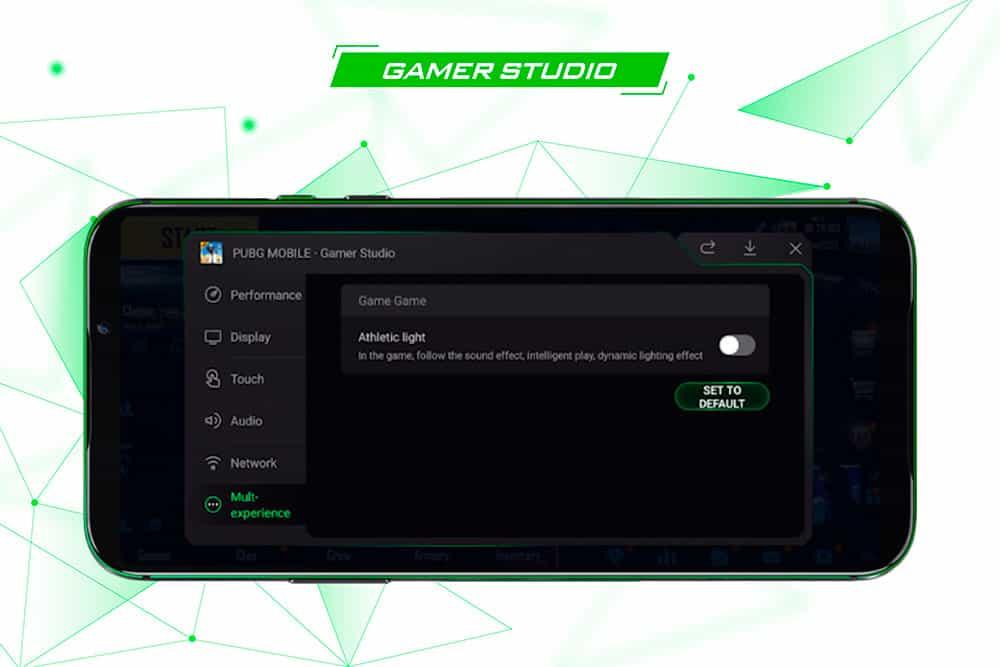Chế độ Gamer Studio vô cùng tiện lợi của Black Shark 2 Pro 8GB quốc tế