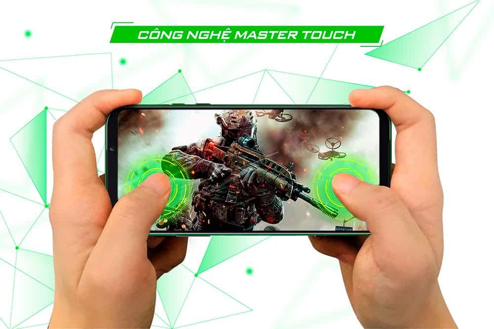 Công nghệ Master Touch hỗ trợ cảm ứng của Black Shark 2 Pro 8GB quốc tế