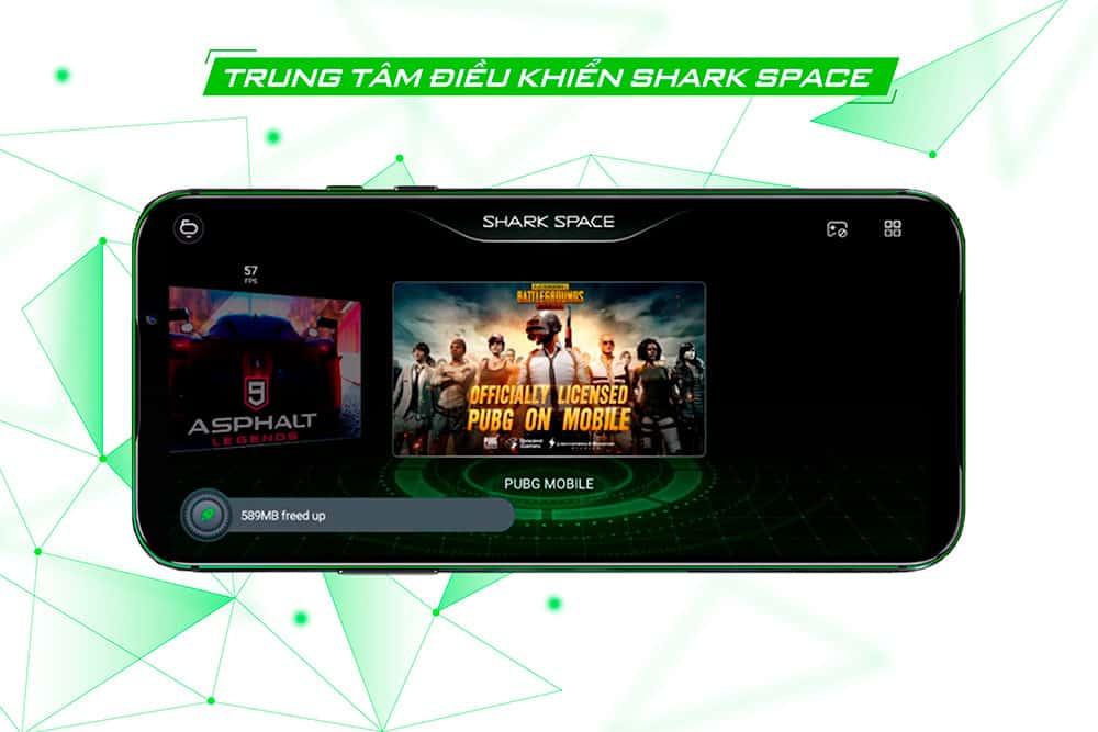 Hệ thống trung tâm điểu khiển hoàn toàn mới của Black Shark 2 Pro 8GB quốc tế
