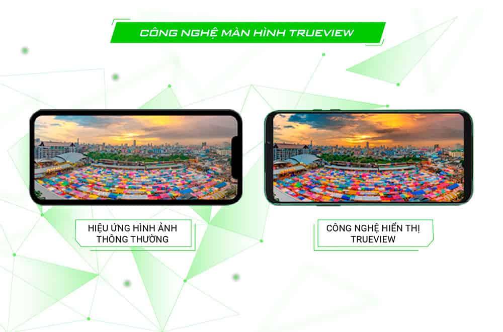 Công nghệ True View hỗ trợ hình ảnh trung thực của Black Shark 2 Pro 8GB quốc tế