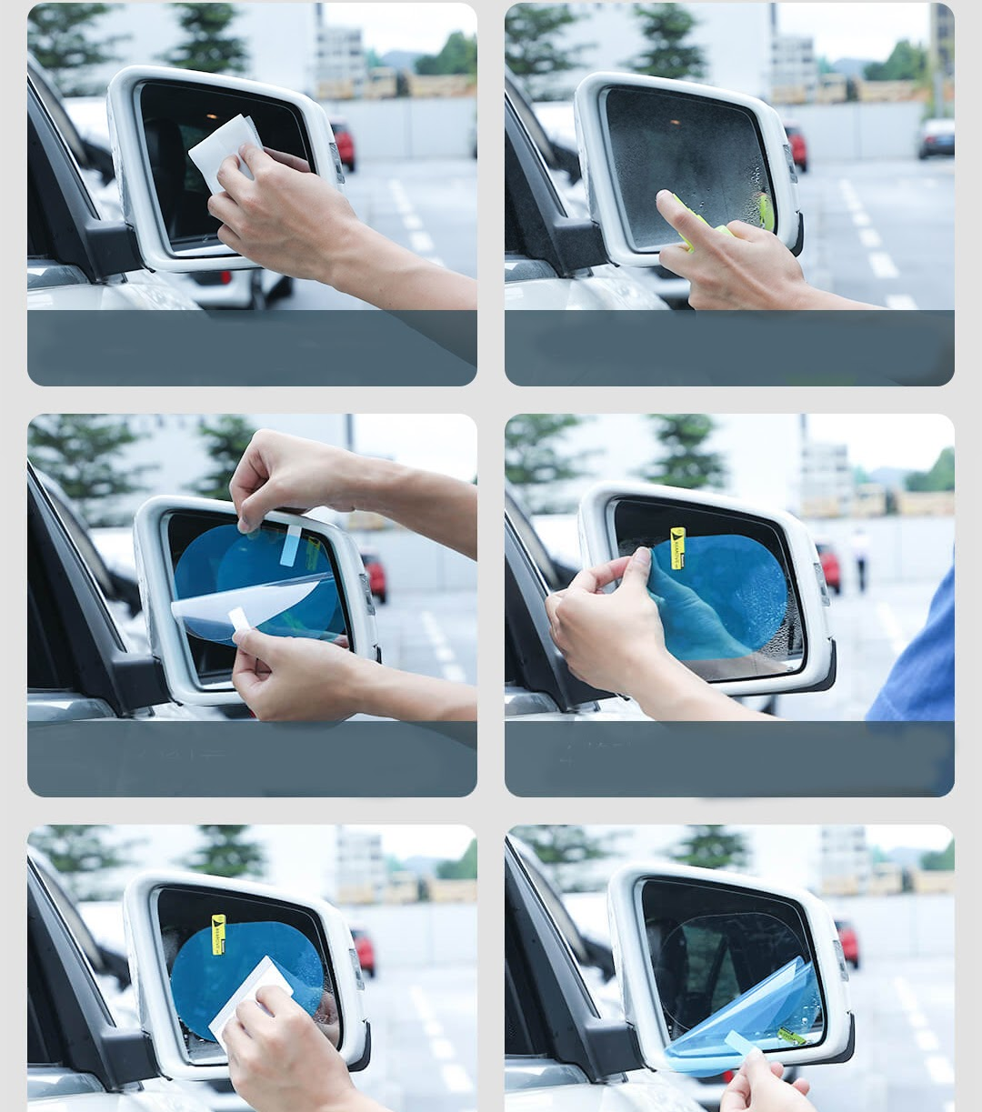 Bộ 2 miếng dán chống nước gương chiếu hậu ô tô Baseus