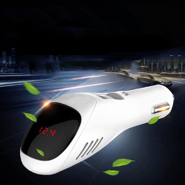 Máy lọc không khí LED tạo Ion âm tính kiêm tẩu sạc ôtô thông minh Tech Shark