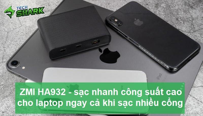 ZMI HA932 – Bộ sạc nhanh công suất cao cho laptop ngay cả khi sạc nhiều cổng - Ảnh đại diện