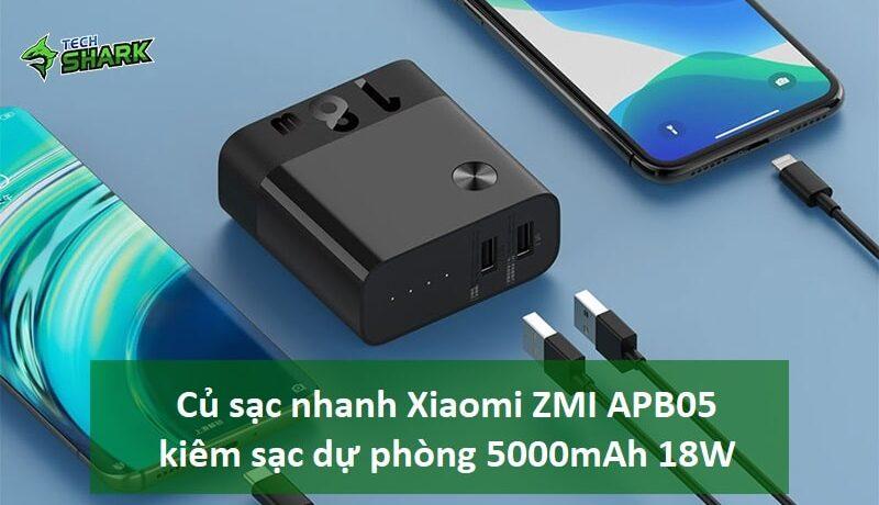 Củ sạc nhanh Xiaomi ZMI APB05 kiêm sạc dự phòng 5000mAh 18W - Ảnh đại diện