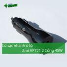 """Củ sạc ô tô Zmi AP721 2 cổng 45W – Phụ kiện không thể thiếu trong """"xế hộp"""" của bạn - Ảnh đại diện"""